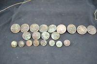 Vtg Lot of 21 WWI Copper Military Buttons-Austin Co Providence,RI, Philadelphia