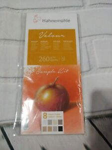 Hahnemuhle Velour Paper SAMPLE 8 Sheets (4INX 9IN) neutral colors