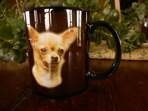 Chihuahua Dog Puppy Coffee Cup Tan Dog Lover