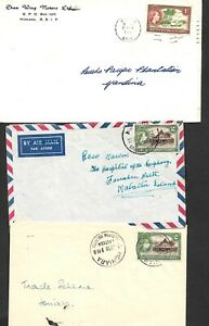 British Solomon Islands postal history selection of covers