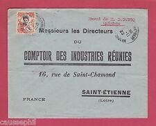 es - QUINHON Indochine Lettre de 1925 pour St-Etienne, France