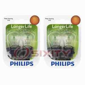 2 pc Philips Rear Turn Signal Light Bulbs for Ford E E-150 E-150 Club Wagon ma