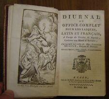 Diurnal ou office complet pour les laïques latin et français Bayeux.maroquin1819