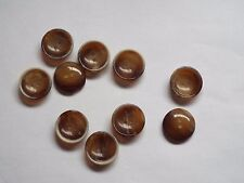 10pc 12mm Woodland Brown Wood Effect Suit Coat Cardigan Knitwear Button 4812