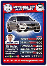Mercedes E63 AMG Estate #322 Top Gear Turbo Challenge Trade Card (C362)