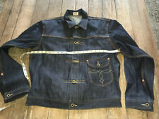 double rl RRL Men Denim Jacket new rigid raw cowboy blue sz M unwashed