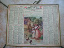ALMANACH  POSTES ET TELEGRAPHES 1929 (LE REPOS DES CANNARDS)  ISERE (oh)