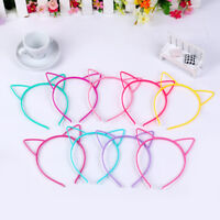 Kids Girls Cat Ears Plastic Headband Hair Band Hair Hoop Cosplay Party Fashion