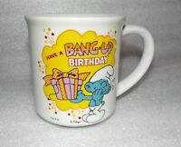 Smurfs Cup Mug Have a Bang up Birthday 1982 Berrie & Co.
