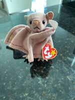Ty Beanie Baby BATTY w/ ERRORS On FACE (Eyes + Nose) SWING & TUSH Tag PVC Pellet