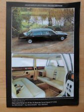 JAGUAR DAIMLER XJ40 Stretched Limousine by Robert Jankel 1980s UK Mkt Brochure