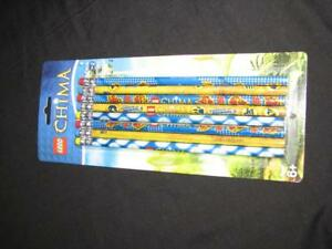 Lego Legends of Chima No.2 wooden School supplies Pencils 8 Pack New Party