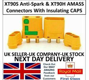AMASS ANTI SPARK XT90S & XT90H Connectors Female Male Pairs Lipo XT90 ESC RC UK