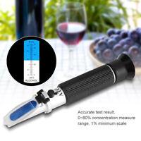 0-80% Alkohol Refraktometer Alkoholtester Konzentrationstest Alkoholmeter♥
