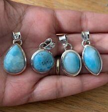 Wholesale 925 Sterling Silver Larimar Gemstone Pendant Necklace Ladies Jewellery
