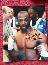 BOXING PHOTO 10 X 8 INCH AUTOGRAPHED -  TRACY HARRIS PATTERSON