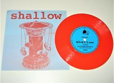 "Shallow - I wonder (sonic boom remix) / Straight away 7"" Red Vinyl PS"