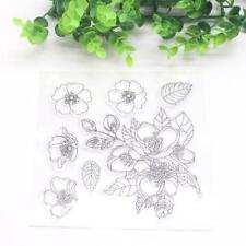 Flower Transparent Silicone Stamp Clear DIY Scrapbooking Craft Stamps