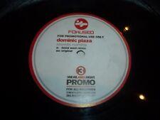 "DOMINIC PLAZA - Sound Rushing - UK 2-track 12"" White Label Vinyl Single"