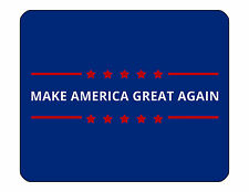 "9""x7"" MOUSE PAD - Donald Trump #4 President Republican GOP Make America Great"
