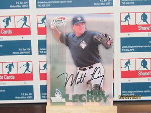 1999 Équipe Best Autographes #33 Mat Lecroy Ba-Tr