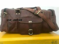 Leather Travel Bag Expandable Weekend Holdall Gym Duffel Tote Overnight Bag