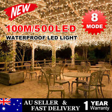 500LED 100M Warm White Outdoor String Strip Lights Fairy Christmas Wedding Party