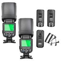 Neewer NW-562C E-TTL Flash Speedlite Kit (2x NW562C Flash) for Canon DSLR Camera
