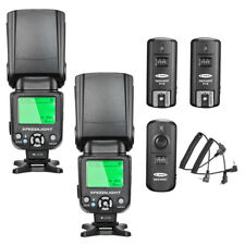 Neewer NW-562C E-TTL Flash Speedlite Kit (2x NW562C Flash) for Canon DSLR Camera
