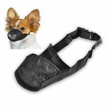"""Black Size 7.4"""" Dog Puppy Nylon Fabric Breathable Mesh Mouth Restraint Chew"""