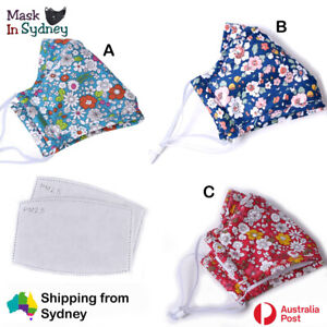 Washable Face Mask Anti Pollution Reusable with PM 2.5 Filters In Sydney