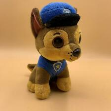"Ty Beanie Boos Paw Patrol Chase the Dog 7"" Beanbag Plush Toy w/ Glitter Eyes"