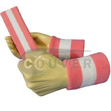 Couver Pink White Pink Striped Headband Wristband Set