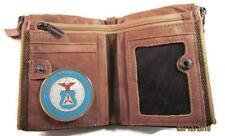 CAP CIVIL AIR PATROL VINTAGE FINISH BROWN GENUINE COWHIDE BIFOLD WALLET