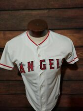 Anaheim Angels Mike Trout Youth Large White Short Sleeve Jersey new