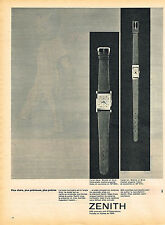 PUBLICITE ADVERTISING 114  1961  ZENITH   collection montres