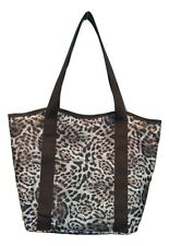 WHOLESALE JOB LOT 50  x LEOPARD TOTE SHOPPER SCHOOL BAG BEACH BAG HANDBAG