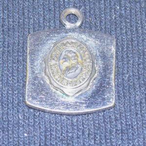 Vintage Silver & Gold Tone Charm depicting Fairfax Hall Waynesboro Va-Rare Find