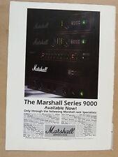 vintage magazine advert 1989 MARSHALL 9000