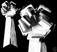 """9"""" BLACK WHITE WEDDING LARGE PEW BOW BRIDAL DECORATION"""