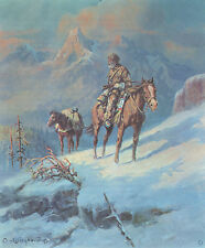 OLAF WIEGHORST 1969 Southwest BookPrint ROCKY MOUNTAIN TRAPPER From Oil Painting