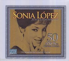 SEALED - Sonia Lopez CD NEW Tesoros De Coleccion 50 Anos - 3 Discs Set BRAND NEW
