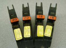 4 - FEDERAL PACIFIC Stab-lok 15 Amp & 20 Amp NC Breakers 15A 20A PERFECT