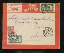 FRANCE COLS.MOROCCO 1922 AIR TOURS ADVERT COVER...SWISS