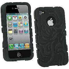 New Tribal Silicone Skin Case Cover Fit for Apple iPhone 4 - Black