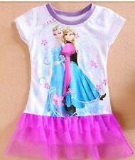 2018 Girls Frozen Elsa Tutu Skirt dress Party Clothes Mini dress K60
