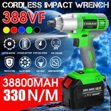 """388VF 1/2"""" Cordless Electric Impact Wrench Brushless Driver w/ 38800mAh"""