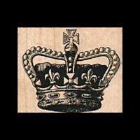 Mounted Rubber Stamp, Crown, Queen, England, Jewels, King, Mixed Media, Royalty