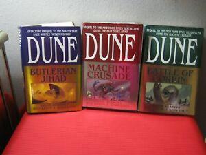 LEGENDS OF DUNE Complete 3-Book Lot, Brian Herbert & Kevin Anderson Hardcover DJ