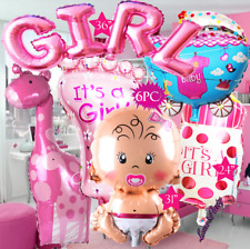 6PC GIRL BABY SHOWER NEWBORN 1ST ITS A BALLOON balloons BIRTHDAY PARTY SUPPLY